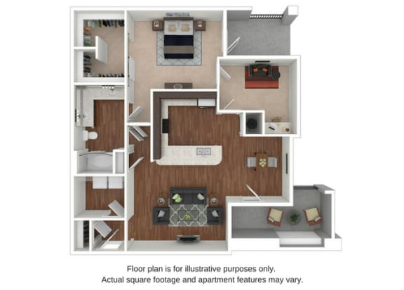 Floor Plan  A3 Floor Plan at Retreat at the Flatirons