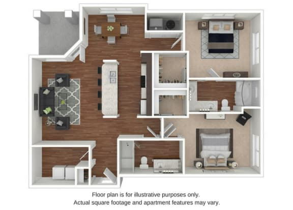 Floor Plan  B6 Floor Plan at Retreat at the Flatirons