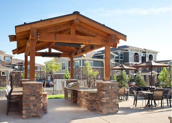 BBQ Area at Retreat at the Flatirons, Colorado