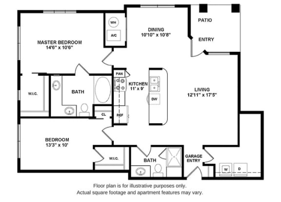 Floor Plan  B2 Floor Plan at Retreat at the Flatirons