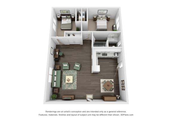 Floor plan at Marine View Apartments, San Pedro, CA, 90731
