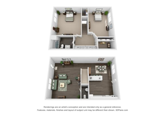 Floor plan at Marine View Apartments, San Pedro