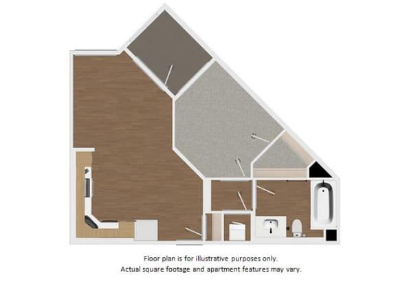 Floor Plan  Floor plan at Malden Station by Windsor, Fullerton, CA