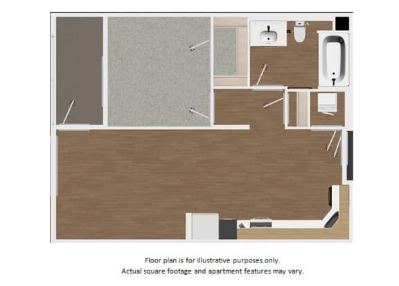 Floor Plan  Floor plan at Malden Station by Windsor, Fullerton, 92832