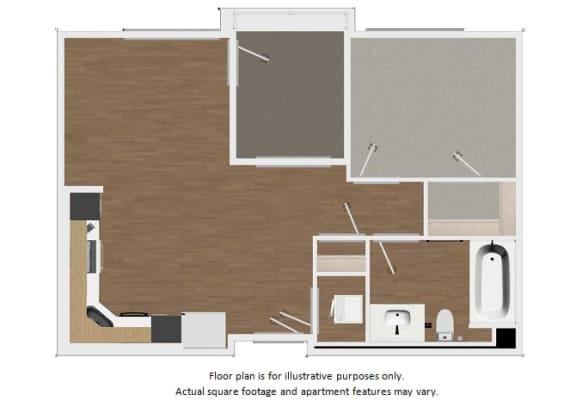 Floor Plan  Floor plan at Malden Station by Windsor, Fullerton, California