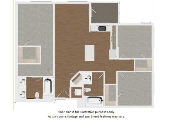 Floor Plan  Floor plan at Malden Station by Windsor, California