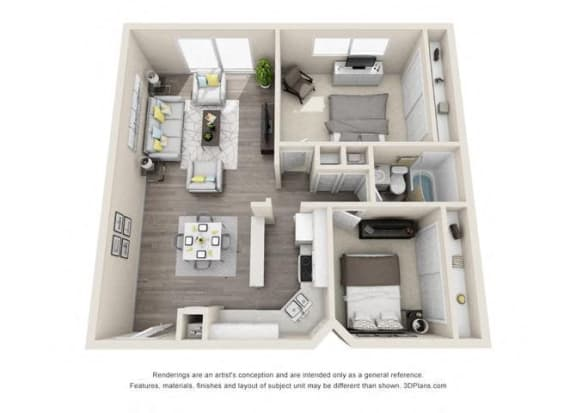 Floor plan at Ocean Breeze Villas, Huntington Beach, 92647