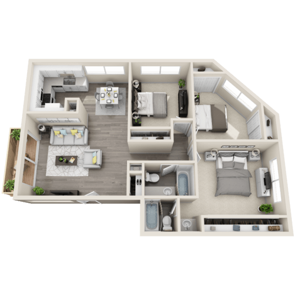 Floor plan at Ocean Breeze Villas, Huntington Beach, CA, 92647