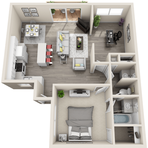 Floor Plan  Floor plan at Ocean Breeze Villas, Huntington Beach, CA, 92647