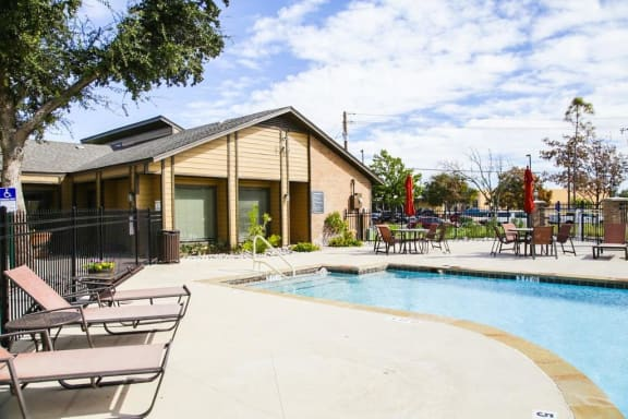 Sun Deck And Poolside Cabanas at Hawthorne House, Texas, 79705