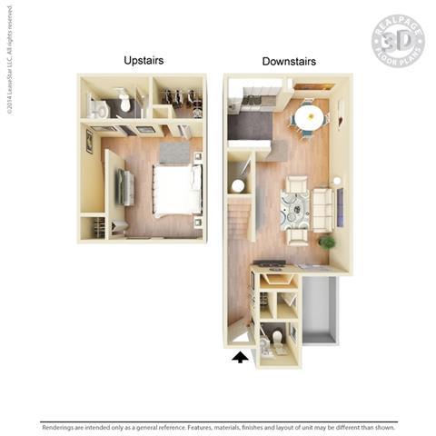 Floor Plan at Hawthorne House, Midland