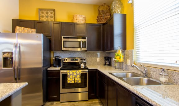 Kitchen at Sabino Vista Apartment Homes in Tucson AZ