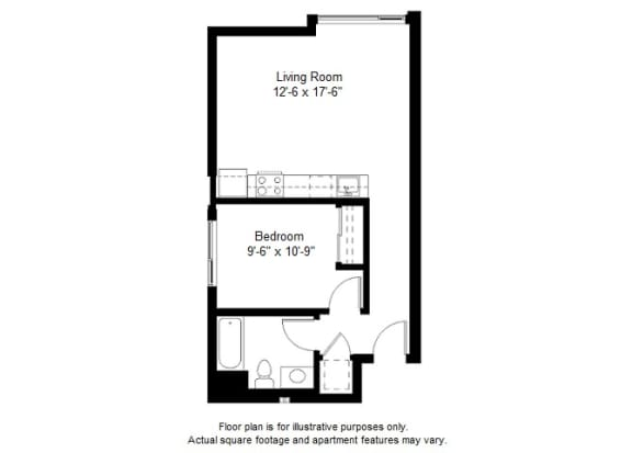 Floor Plan  A4 floor plan at Windsor at Dogpatch, CA, 94107