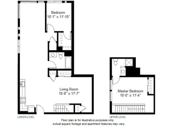 Floor Plan  B13 floor plan at Windsor at Dogpatch, San Francisco, California