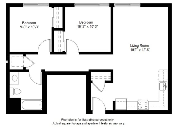 Floor Plan  B2 floor plan at Windsor at Dogpatch, CA, 94107