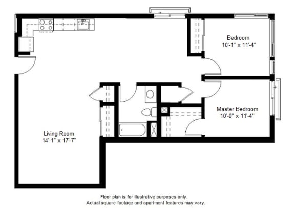 Floor Plan  B3 floor plan at Windsor at Dogpatch, 2660 3rd Street, 94107