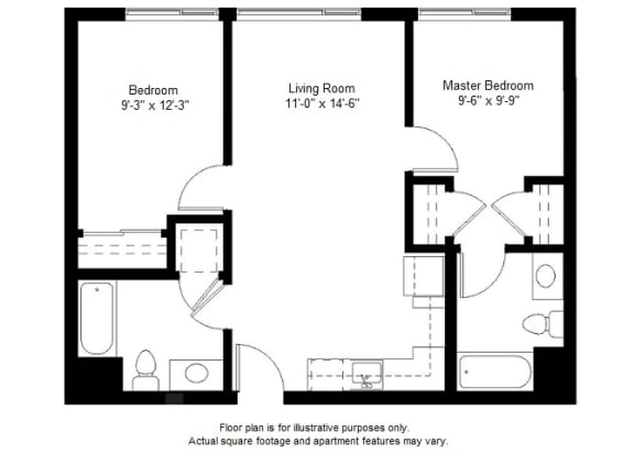 Floor Plan  B4 floor plan at Windsor at Dogpatch, San Francisco, CA