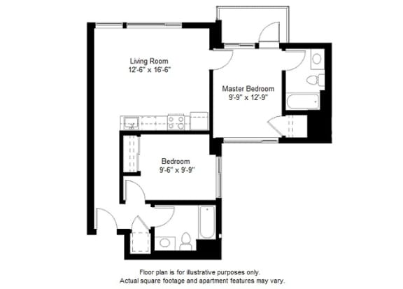 Floor Plan  B5 floor plan at Windsor at Dogpatch, 2660 3rd Street, 94107