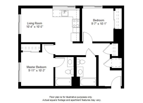 Floor Plan  B6 floor plan at Windsor at Dogpatch, San Francisco, California