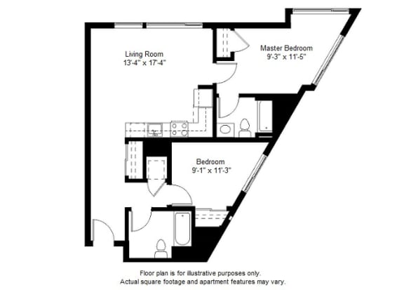 Floor Plan  B7 floor plan at Windsor at Dogpatch, California, 94107
