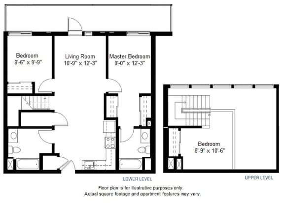 Floor Plan  C1 floor plan at Windsor at Dogpatch, San Francisco, CA