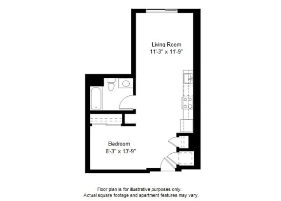 Floor Plan  Updated S9 floor plan at Windsor at Dogpatch, California, 94107