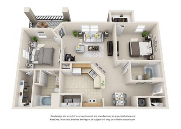 Floor Plan  B4 Floor Plan at Amberjack Estates, Texas, 77094