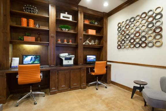 Business Center at Villas at Stone Oak Ranch, Texas