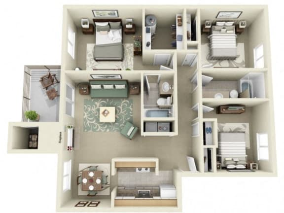 Floor Plan  Montair at Somerset Hill|St Helens|3Bed/2Bath