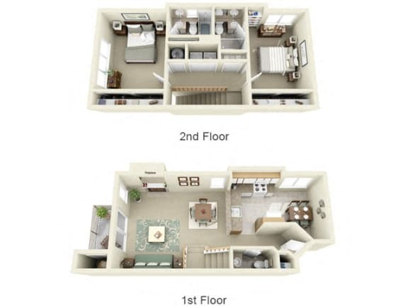 Floor Plan  Montair at Somerset Hill|Townhouse - 2Bed/2.5Bath