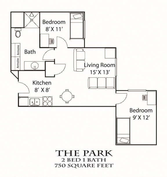 Floor Plan  The Park Floorplan Bierman Place Apartments in Minneapolis, MN_Park