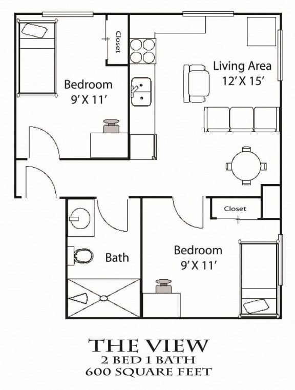 Floor Plan  The View Floorplan Bierman Place Apartments in Minneapolis, MN_View