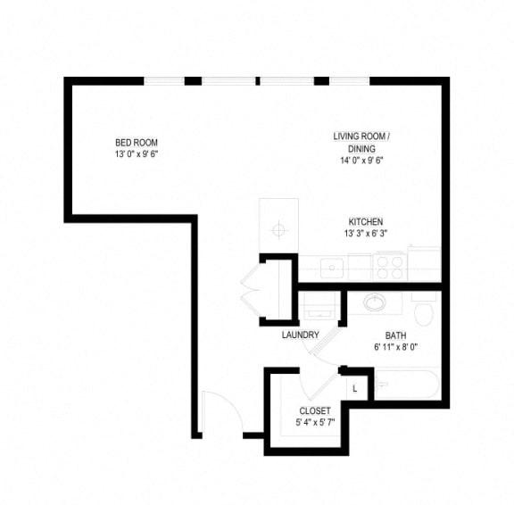 Floor Plan  Waterstone Apartments in Minnetonka, MN A The Falls
