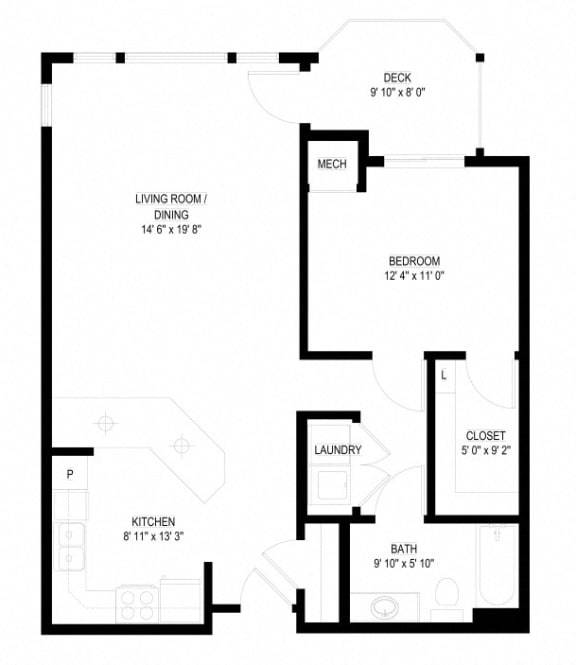 Floor Plan  Waterstone Apartments in Minnetonka, MN B The Lakes
