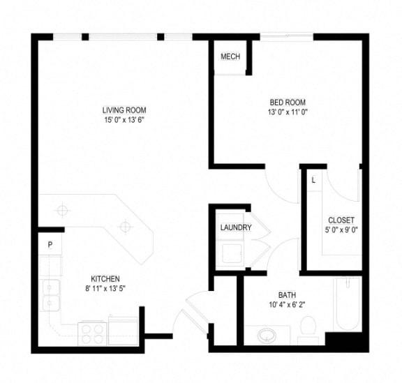 Floor Plan  Waterstone Apartments in Minnetonka, MN C The Brook