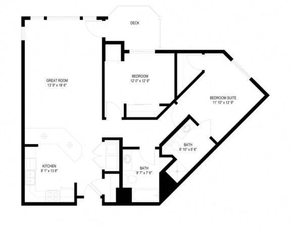 Floor Plan  Waterstone Apartments in Minnetonka, MN F The Heron