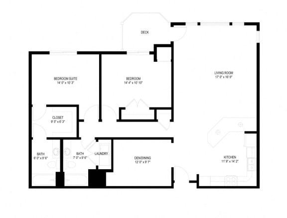 Floor Plan  Waterstone Apartments in Minnetonka, MN J The Egret