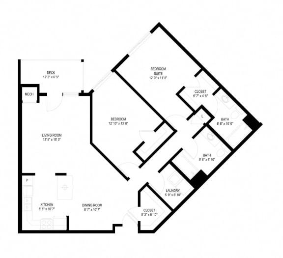 Floor Plan  Waterstone Apartments in Minnetonka, MN K The Spring