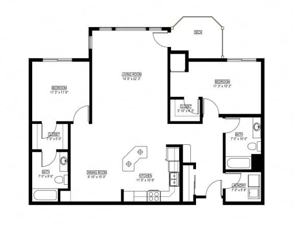 Floor Plan  Waterstone Apartments in Minnetonka, MN L The Waterstone