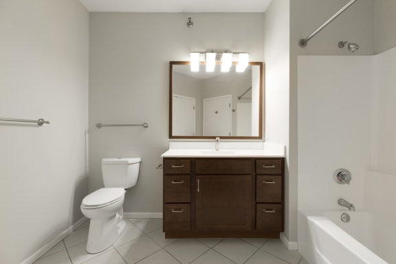 Oversized Soaking Tubs In Bathroom at Waterstone Place, Minnetonka, MN, 55305