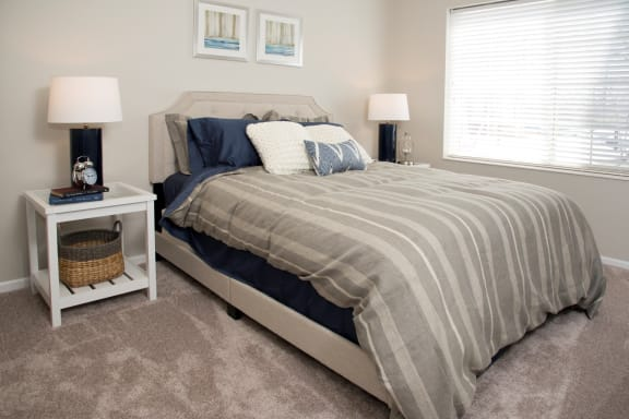 Bright Bedroom With Natural Light at Waterstone Place, Minnetonka
