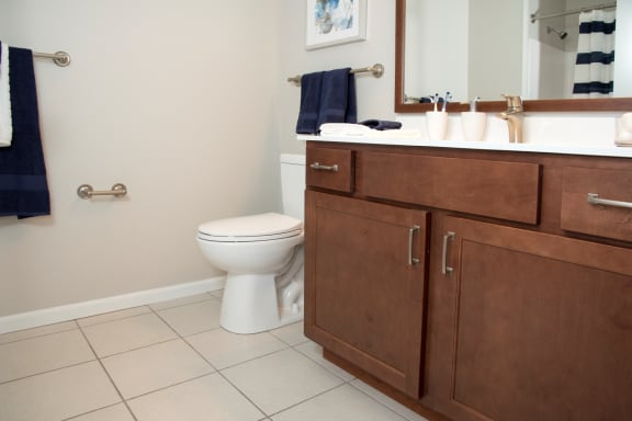 Upgraded Bathroom Accessories at Waterstone Place, Minnetonka, MN