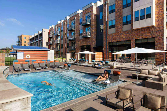 Pool With Sunning Deck at CityWay, Indianapolis, 46204