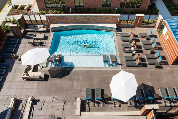 Aerial Pool View at CityWay, Indianapolis, Indiana