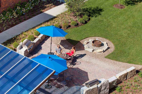 Outdoor Grill With Intimate Seating Area at CityWay, Indianapolis, 46204