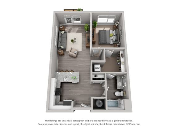 Floor Plan  Spacious Floor Plan at CityWay, Indiana, 46204