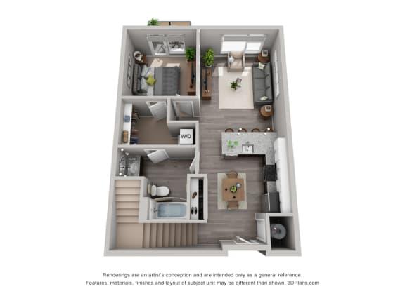 Stylish Floor Plan at CityWay, Indiana