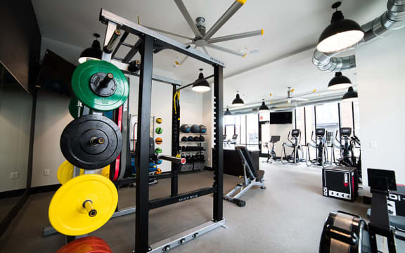 Fitness Center, Free Weights at CityWay, Indianapolis, 46204
