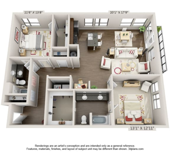 Floor Plan  Floor Plan Residences at CityWay Apartments in Indianapolis