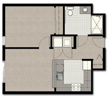 Floor Plan  One Bedroom B10 FloorPlan at The Corydon, Washington, opens a dialog